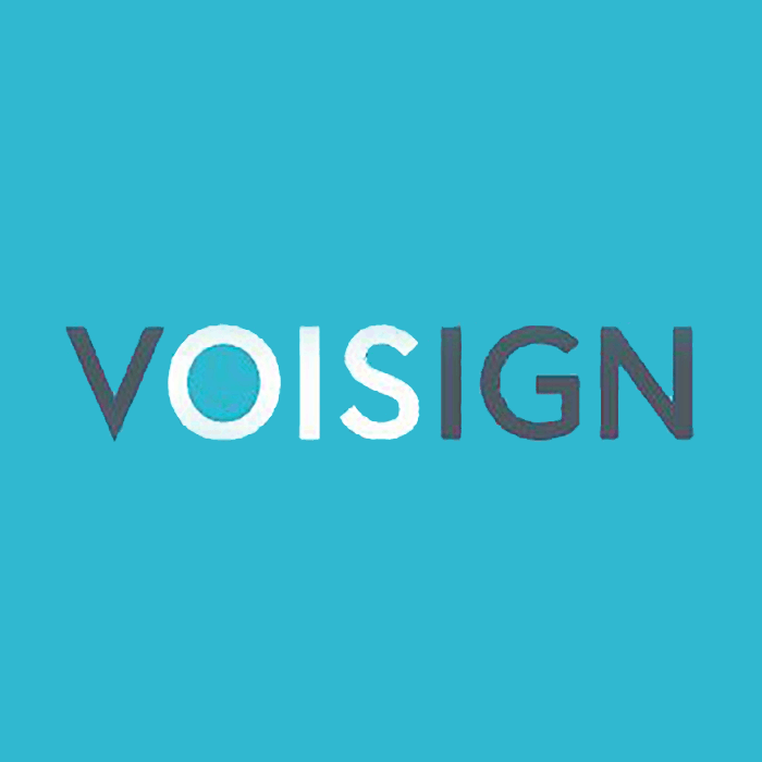 Original logo for our client Voisign before Studio Stratos rebrand.